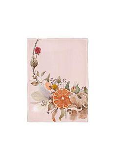 chic mic Geschirrtuch Organic Kitchen Towel Orange Flower Wreath
