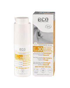 Eco Cosmetics Sonnengel Gesicht LSF 30 transparent & neutral