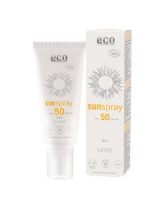 Eco Cosmetics Sonnenspray LSF 50 getönt Q10